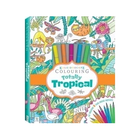 Kaleidoscope colouring tropicana marker kit