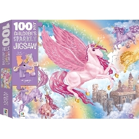 100 Piece Children's Sparkly Jigsaw : Unicorn