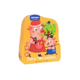 fairy tale puzzle-three little pigs