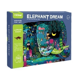 Huge animal-shaped puzzle elephant dream