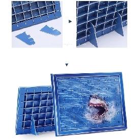จิ๊กซอว์สามมิติลาย sharks 42 ชิ้น