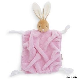 ตุ๊กตาผ้ากัดสี่เหลี่ยม กระต่ายสีชมพู