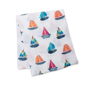 ผ้าอ้อมเด็ก ลาย sailboats