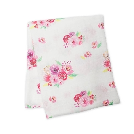 Bamboo Muslin Swaddle - Posies