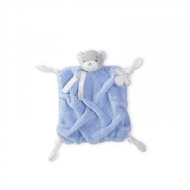 ตุ๊กตาผ้ากัดสี่เหลี่ยม หมีสีฟ้า