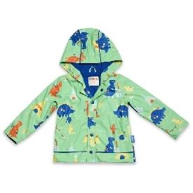 เสื้อกันฝน เพนนี - ไดโน ร็อค สีเหลือง ลายไดโนเสาร์
