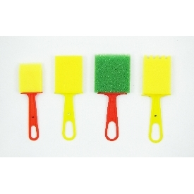 Colourful sponge brush set