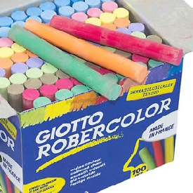 Giotto dust-free blackboard chalk 100 pcs (color)