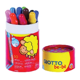 Giotto be-be super large pencils 10 pcs pot