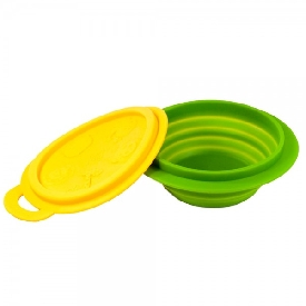 Collapsible bowl - yellow