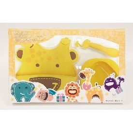 Baby feeding gift set - yellow (lola the giraffe)
