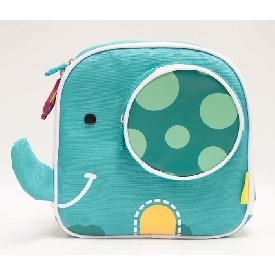 Insulated lunch bag - green (ollie the elephant)
