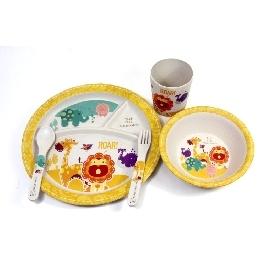 ชุดทานอาหารสำหรับเด็ก จากใยไผ่