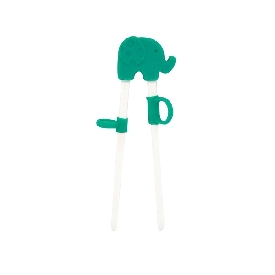 Learning chopstick - green (ollie the elephant)
