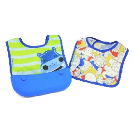 Travel bib (set of 2 bibs)  - lucas