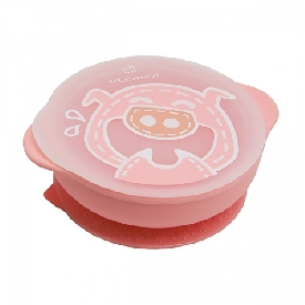 Suction bowl with lid - pokey