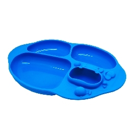 Yummy dips suction divided plate - lucas