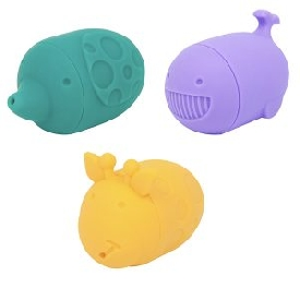 Silicone bath toy - ollie, willo & lola