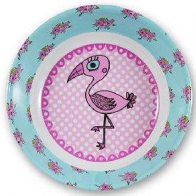 Pink flamingo deep plate
