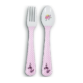 Pink flamingo fork & spoon
