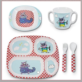 Baby set of crazy cat