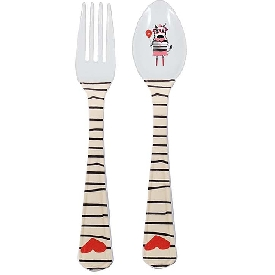 Michelle zebra fork & spoon