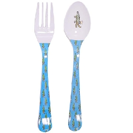 Crocodile fork & spoon