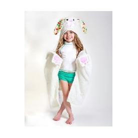 Kids hooded towels - bella the bunny