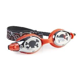แว่นตาว่ายน้ำ ชุดโจรสลัด - สีแดง