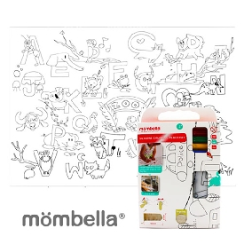 Silicone coloring plate mat - abc (the zoo)