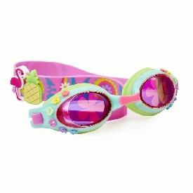 แว่นตาว่ายน้ำแฟชั่น สำหรับเด็ก รุ่น let's famingle - luau blue