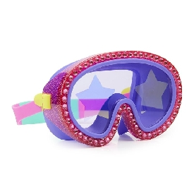 Rock star glitter mask - strawberry