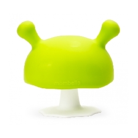 Silicone teether - mushroom green