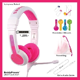 Buddyphones school+ pink