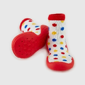 Non-Skid Rubber Sole Slipper Socks - Candy Pop