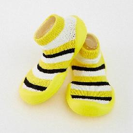 Non-skid rubber sole slipper socks - honey bee