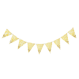 Gold strip banner