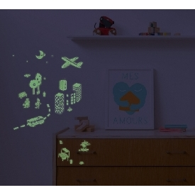 Set Of Stickers Glow In The Dark - City