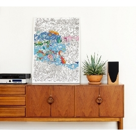 Coloring poster - ocean