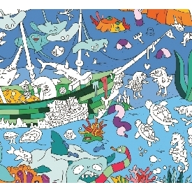โปสเตอร์ระบายสี - มหาสมุทร