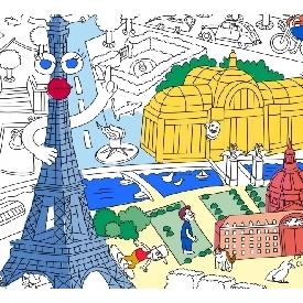 โปสเตอร์ระบายสี - ปารีส