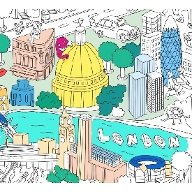 โปสเตอร์ระบายสี - ลอนดอน