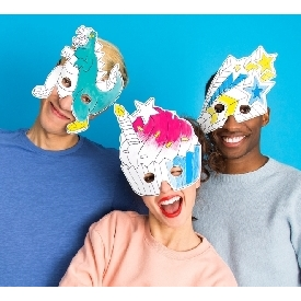Set Of 8 Coloring Masks - Fantastic
