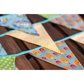 Fabric flag garland - boy