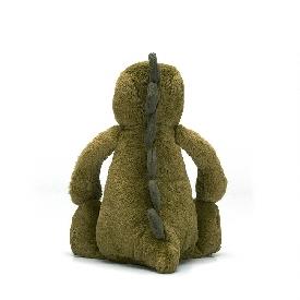 ตุ๊กตาไดโนเสาร์น้อยนุ่มนิ่ม สีเขียว ขนาดกลาง