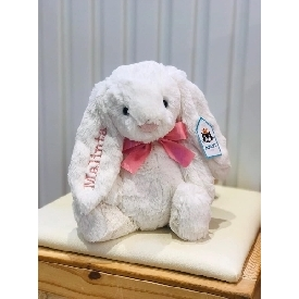 Bashful white bunny 31 cm - personalized name