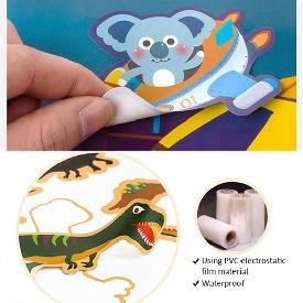 Reusable sticker pad-animal world