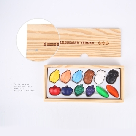 Beeswax crayon - colorful fruits