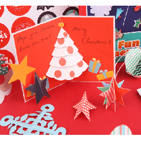 Fun paper cut chrismas party