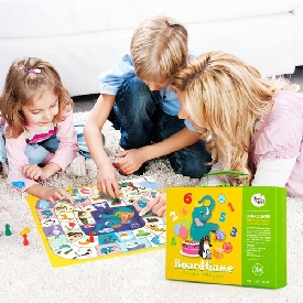 Flying chess & monopoly 2 in 7 set - the elephant birthday party